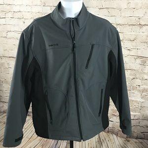 Solaris soft shell weather block jacket.
